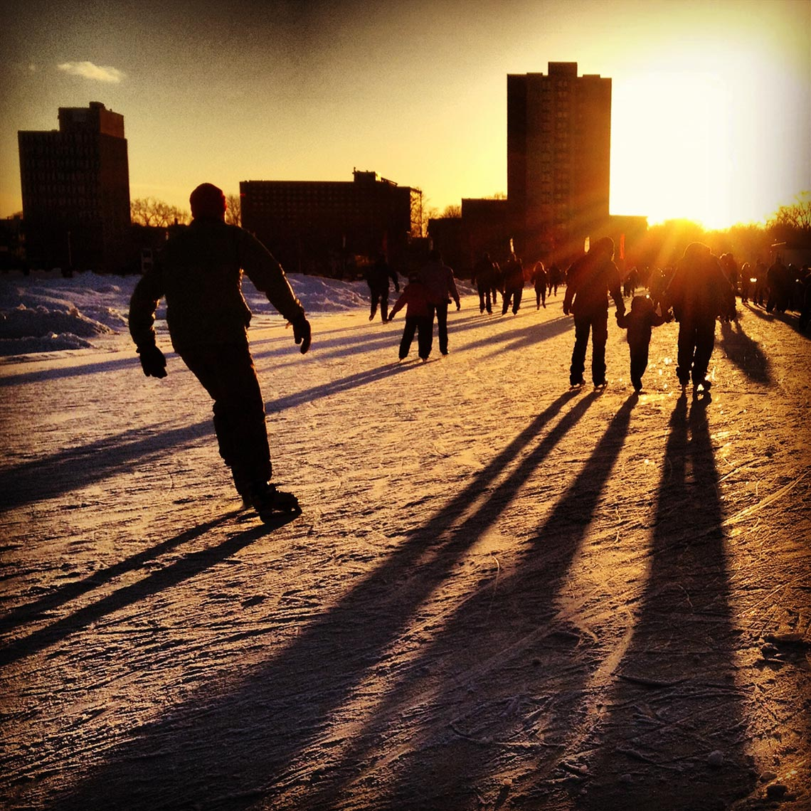Skating on the Oval
