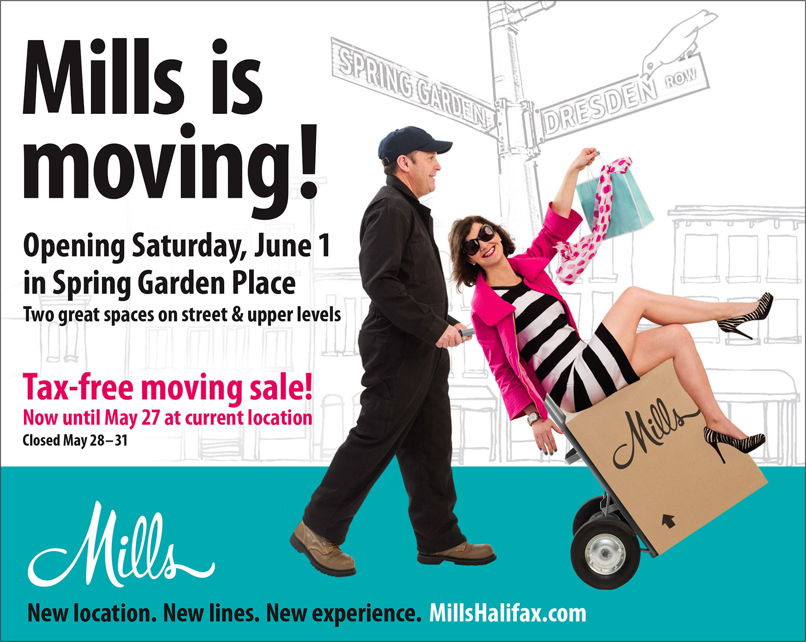 Mills is Moving Ad