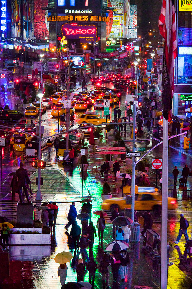 Rainy Night Times Square
