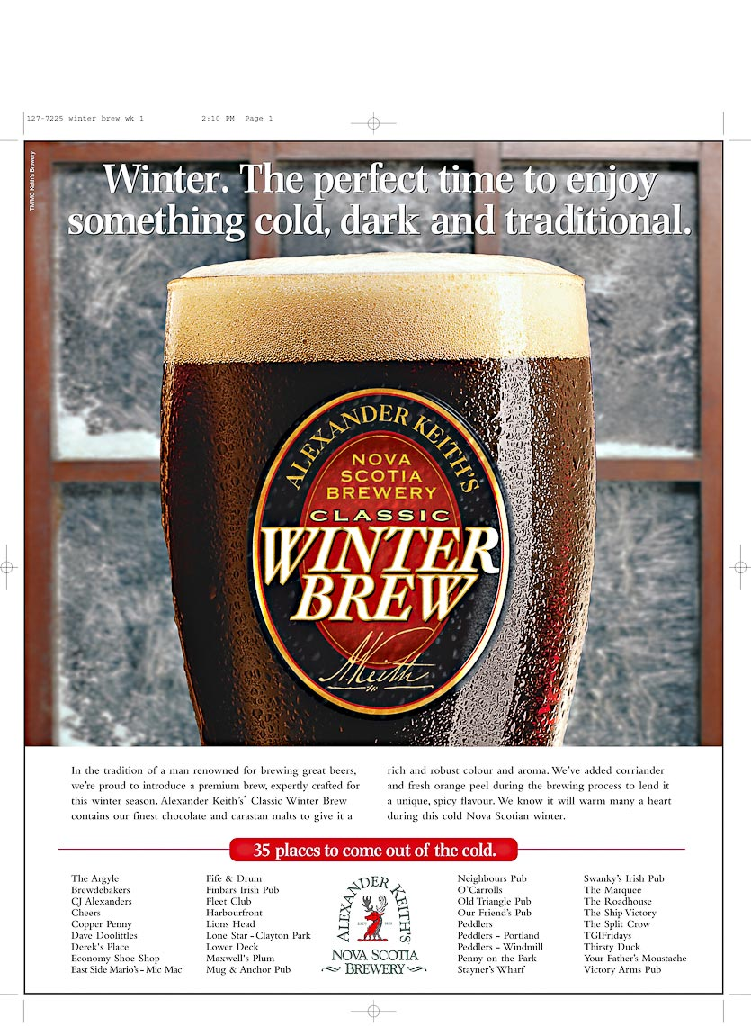Alexander Keiths Winter Brew